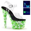 BEJEWELED-708UVLP Clear/Neon Green